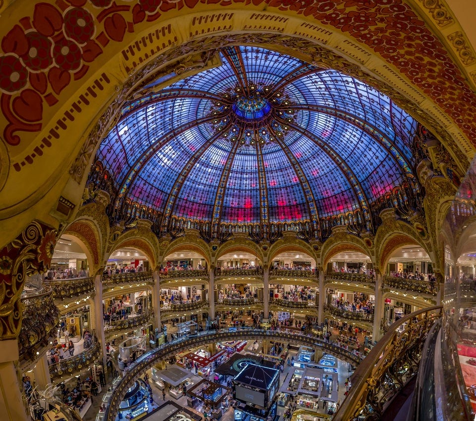 This mall in paris shows that capitalism is a religion