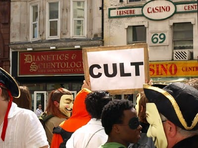 What is a cult? Political tribalism outside of the Scientology center